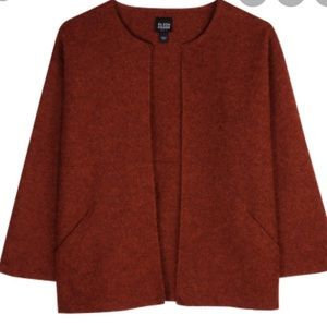 Eileen Fisher Rust Colored Swing Jacket